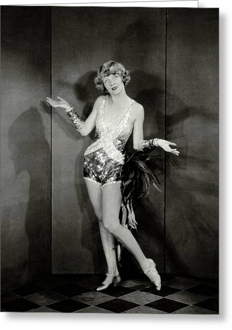 Dancer Frances Williams In The Play Scandals Greeting Card by Charles Sheeler