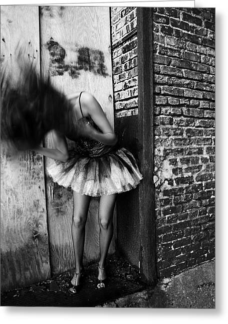 Dancer In The Alley Greeting Card by Jon Van Gilder
