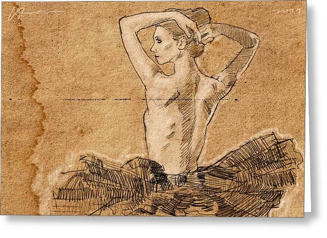 Dancer In Tutu Greeting Card