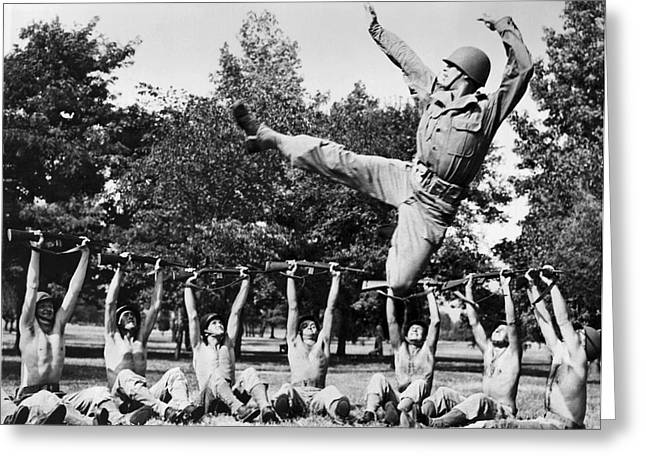 Dancer Jose Limon Leaps High Greeting Card by Underwood Archives
