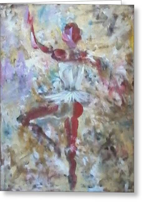 Dancer Red Greeting Card by Giuseppe Cavallo