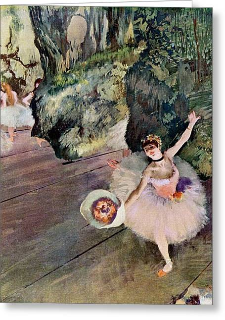 Dancer With Bouquet Of Flowers Greeting Card