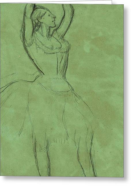 Dancer With Raised Arms Greeting Card