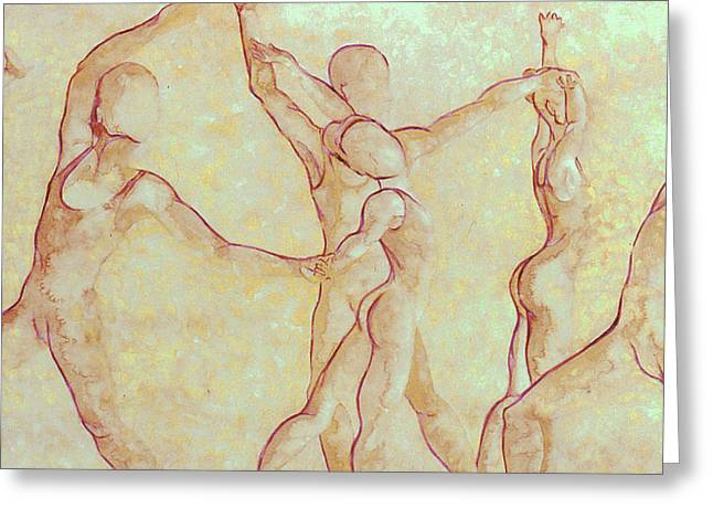 Dancers - 10 Greeting Card by Caron Sloan Zuger