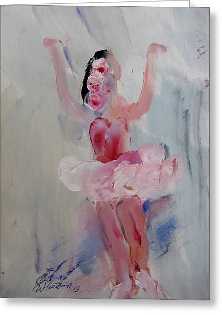 Dancers 134 Greeting Card by Edward Wolverton