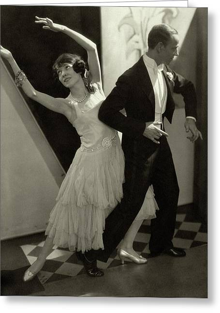 Dancers Fred And Adele Astaire Greeting Card by Edward Steichen