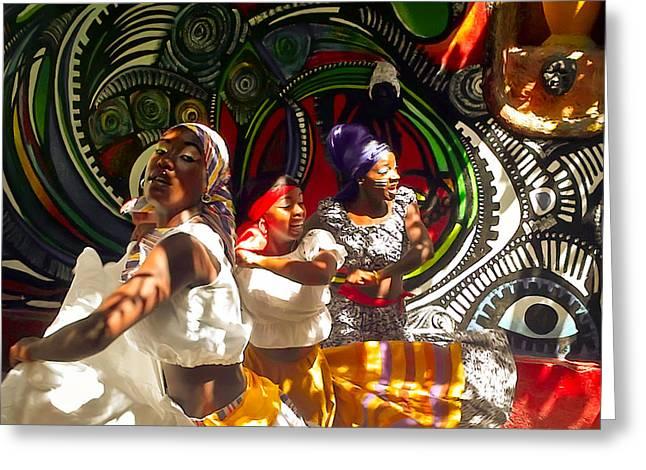 Dancers Of Callejon De Hamel Greeting Card by Trish Oliveira