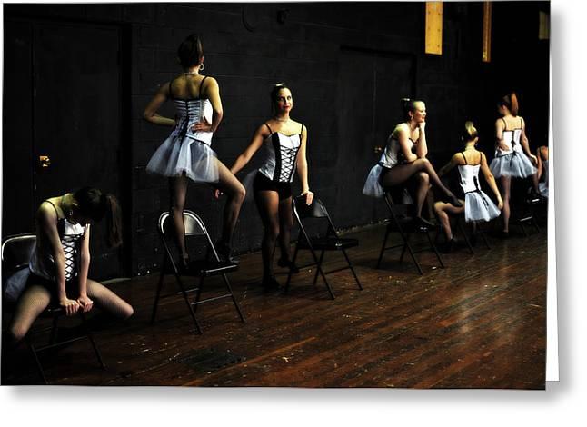 Dancers On Stage Greeting Card by Jon Van Gilder
