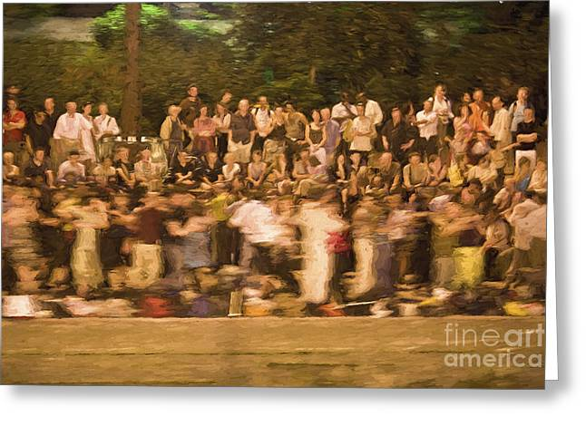 Dancers On The Banks Of Seine Greeting Card by Avalon Fine Art Photography