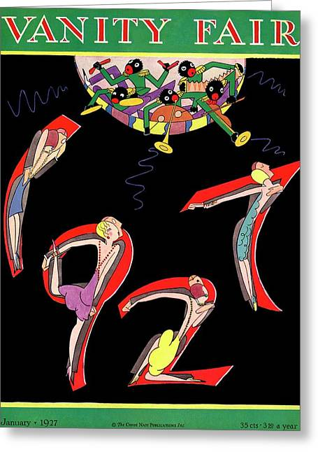 Dancers Spelling 1927 Greeting Card by A. H. Fish