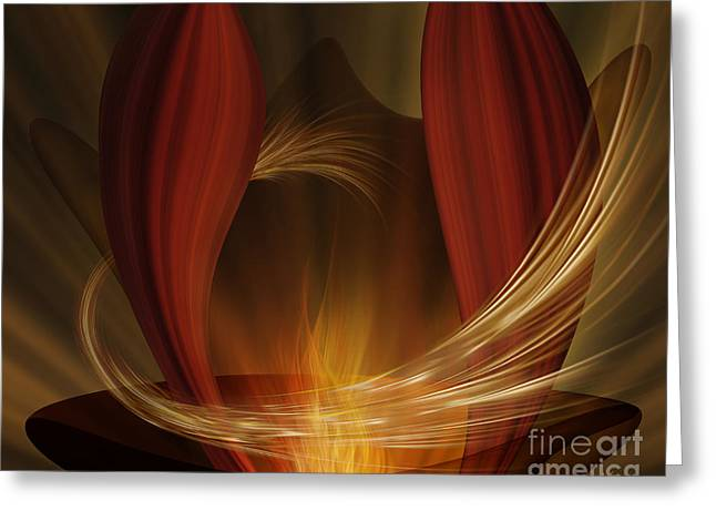 Dances With Fire Greeting Card