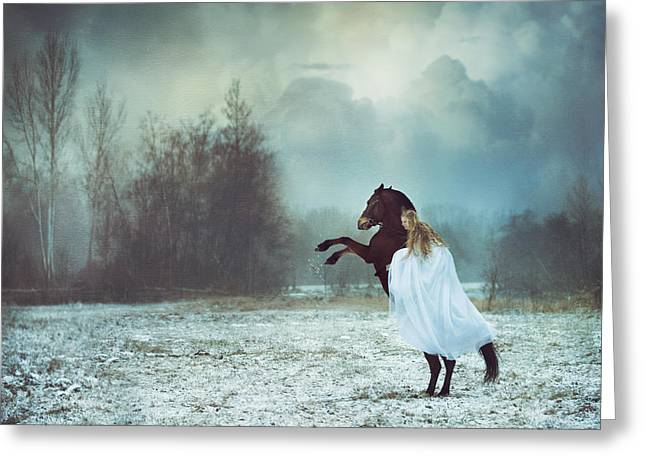 Dances With The Horse Greeting Card