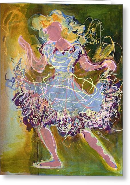 Dancing 1 Greeting Card by Marilyn Jacobson