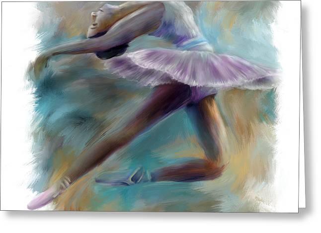 Dancing Ballerina Greeting Card by Bijan Studio