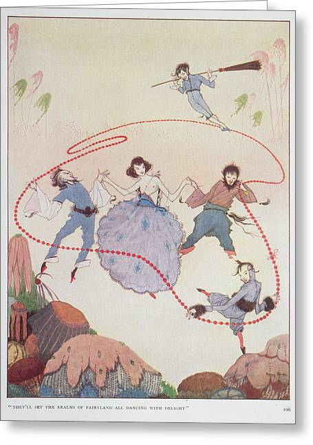 Dancing Greeting Card by British Library