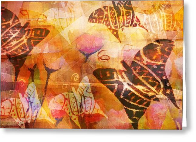 Dancing Butterflies Greeting Card by Lutz Baar