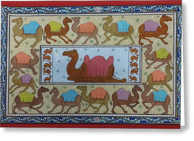 Dancing Camels Greeting Card