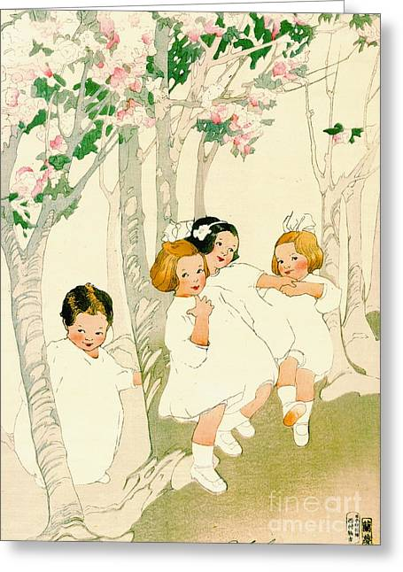 Dancing Children 1913 Greeting Card by Padre Art