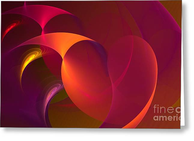 Dancing Colors Greeting Card by Hanza Turgul