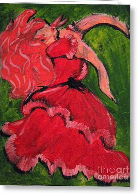 Dancing Doll Greeting Card by Wendy Coulson