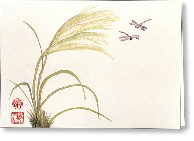 Dancing Dragonflies Greeting Card
