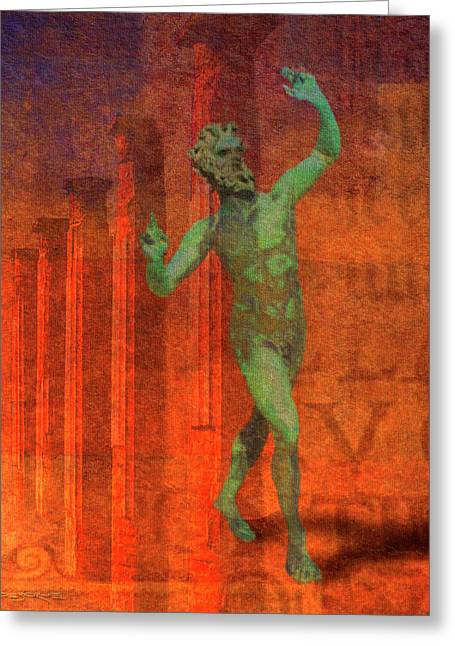 Dancing Faun Greeting Card
