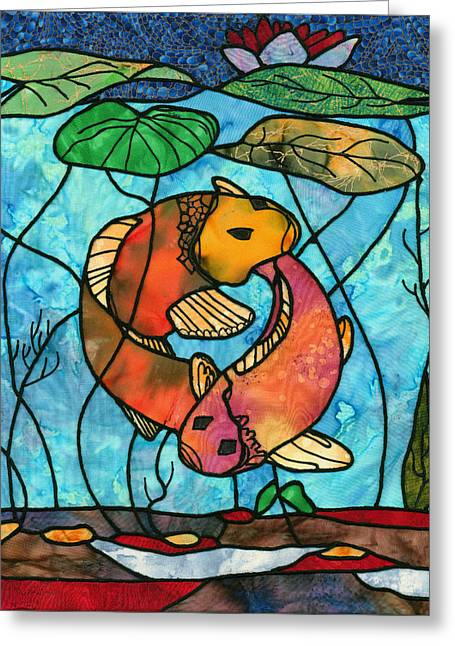 Dancing Fish Greeting Card by Sue Brehm