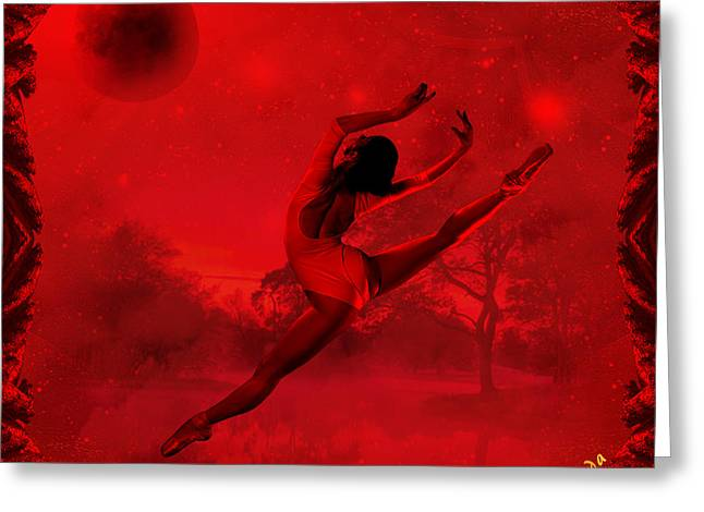 Greeting Card featuring the digital art Dancing For The Moon - Fantasy Art By Giada Rossi by Giada Rossi