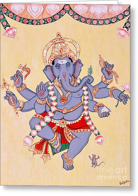 Nritya Ganapati Greeting Card