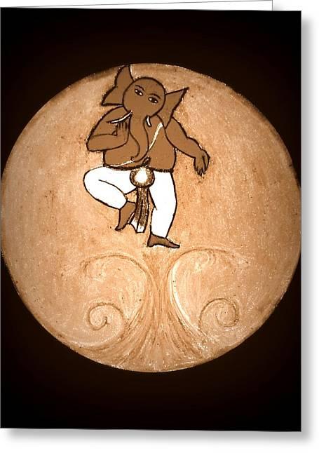 Dancing Ganesha 3 Greeting Card