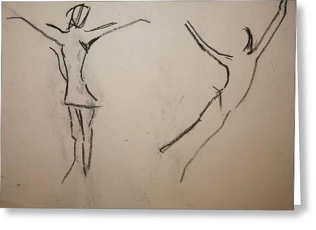 Dancing Girls Greeting Card by Elena Svobodina
