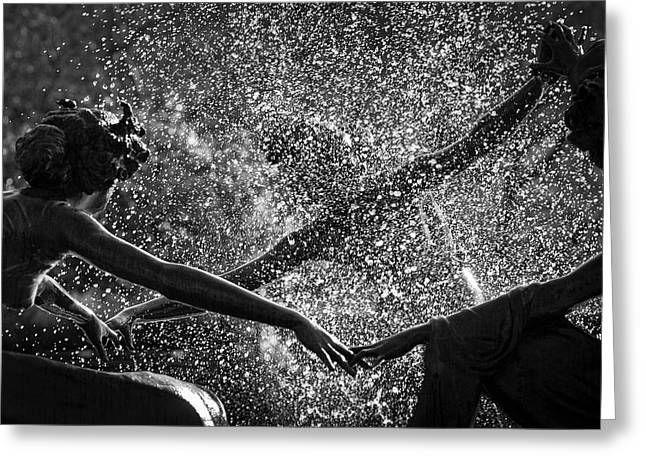 Greeting Card featuring the photograph Dancing Girls Of Central Park by Dave Beckerman