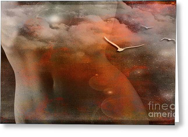 Dancing In Clouds... Greeting Card by Nina Stavlund