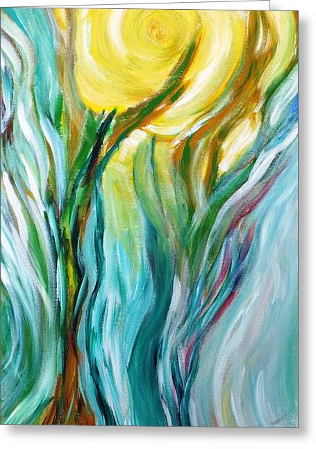 Dancing In Moonlight Greeting Card by Amy Drago