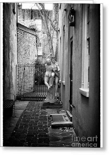 Dancing In The Alley Greeting Card by John Rizzuto