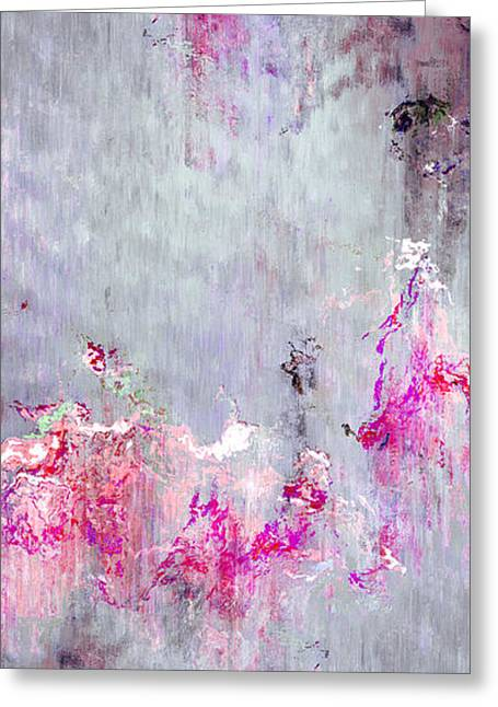Dancing In The Rain - Abstract Art Greeting Card