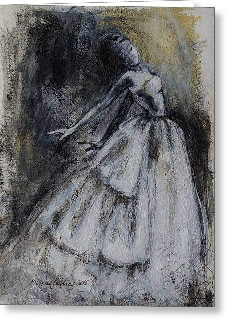 Dancing In The Shadows Greeting Card by Dorina  Costras