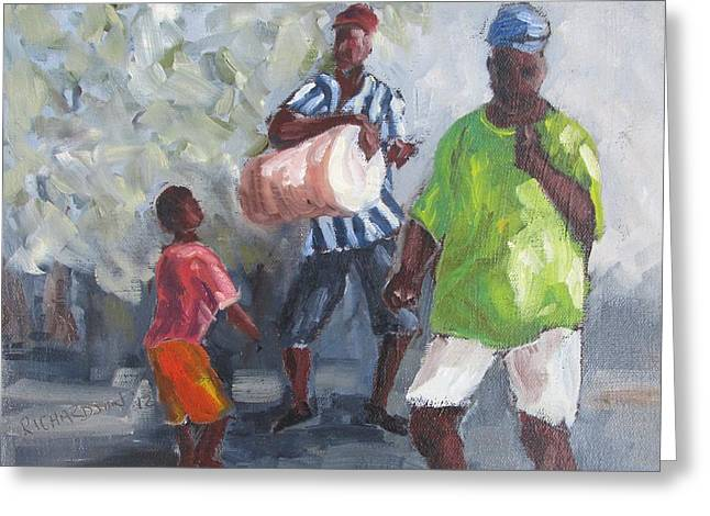 Dancing In The Street Eleuthera Greeting Card by Susan Richardson