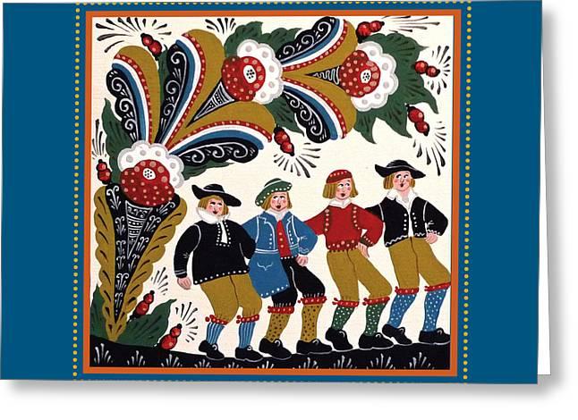 Dancing Men I Greeting Card by Leif Sodergren