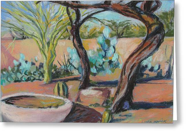 Dancing Mesquite Trees Greeting Card