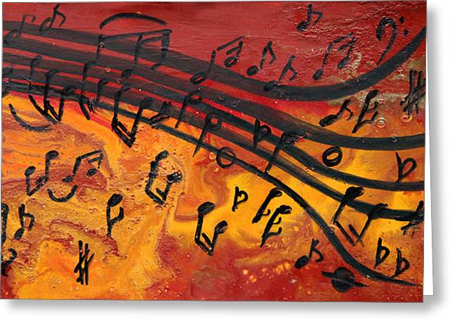 Dancing Musical Notes Greeting Card
