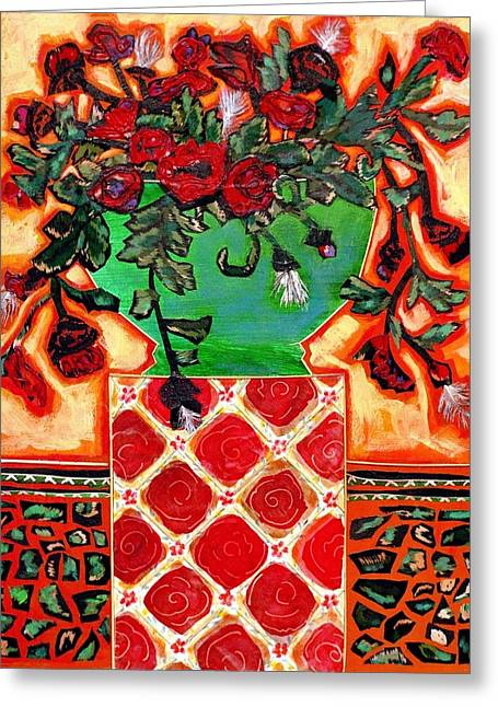 Dancing On A Pedestal Greeting Card by Diane Fine