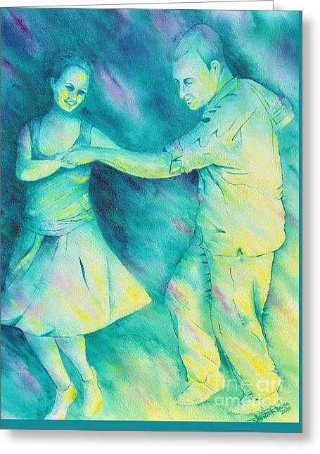Dancing On The Plaza Greeting Card