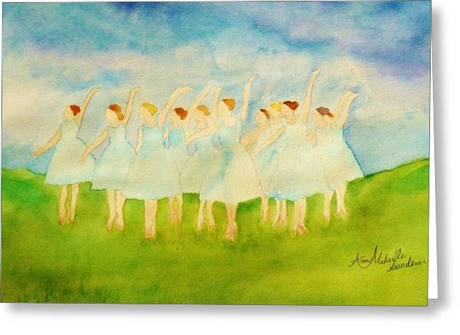 Dancing On Top Of The Grass Greeting Card