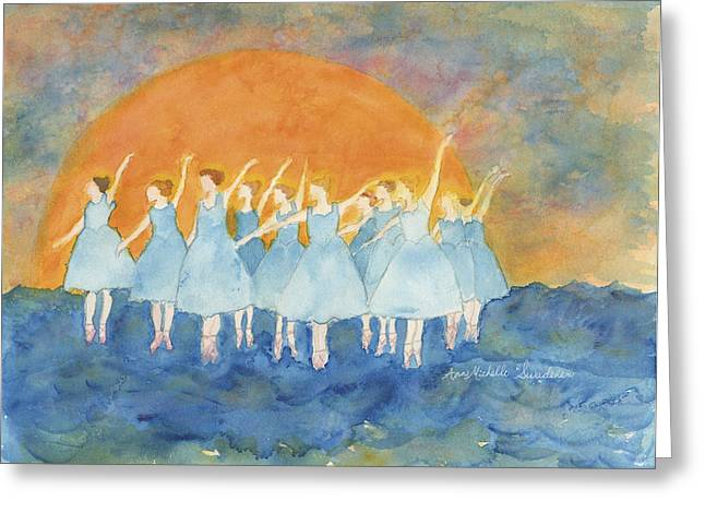 Dancing On Top Of The Sea Greeting Card