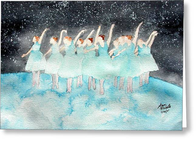 Dancing On Top Of The World Greeting Card by Ann Michelle Swadener