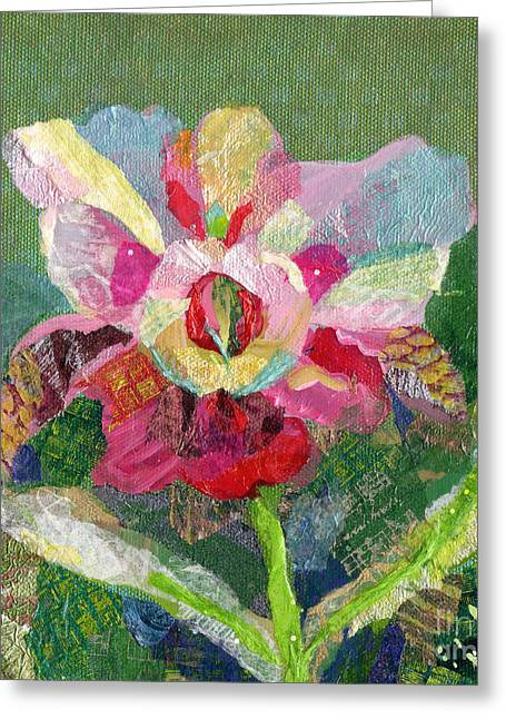 Dancing Orchid II Greeting Card by Shadia Derbyshire