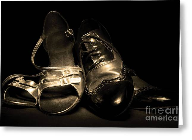 Dancing Pair Greeting Card by Phill Petrovic