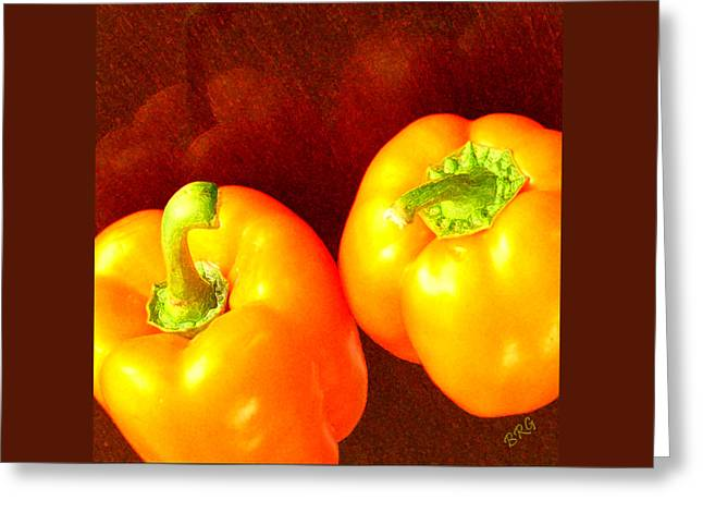 Dancing Peppers Greeting Card by Ben and Raisa Gertsberg