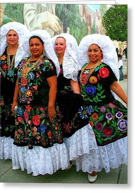Dancing Queens Palm Springs Greeting Card